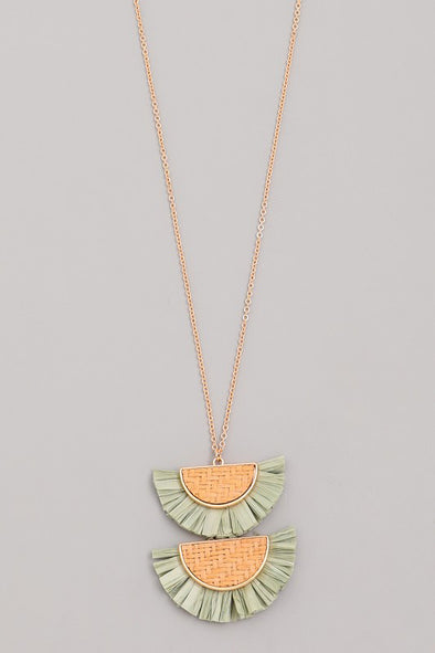 Double Semicircle Fan Necklace