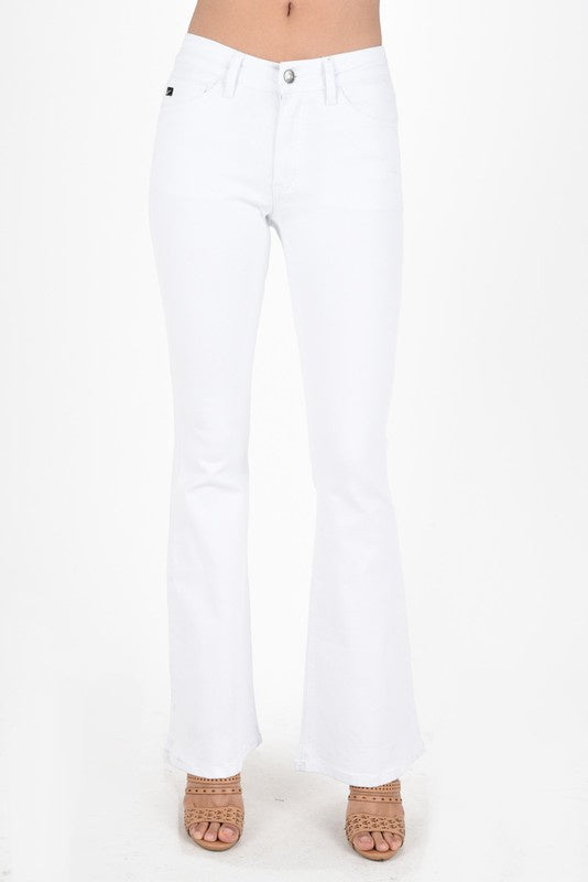 All Caught Up White Flare Jeans