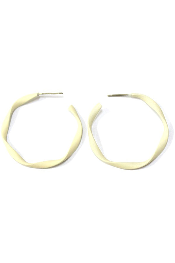 Matte Epoxy Twist Hoop Earring