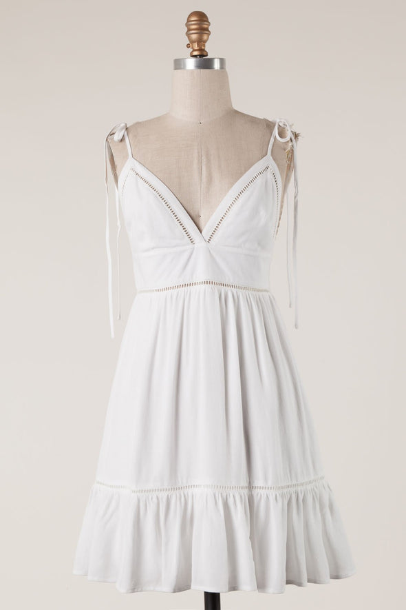 Everlasting Embroidered White Dress