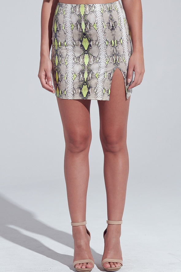 Typical You Snakeskin Skirt
