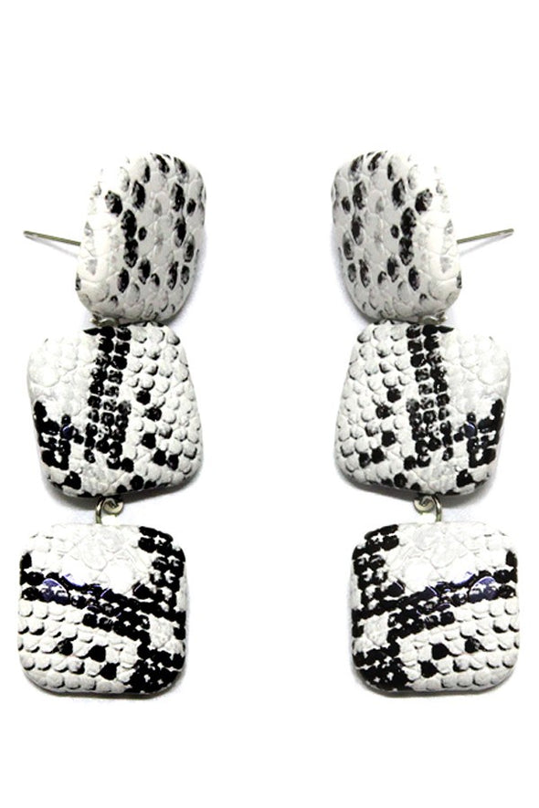 Snakeskin Drop Earrings