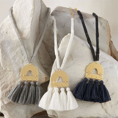 Metal Tassel Necklace