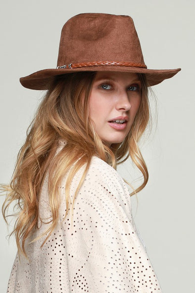 Falling For You Hat - Brown