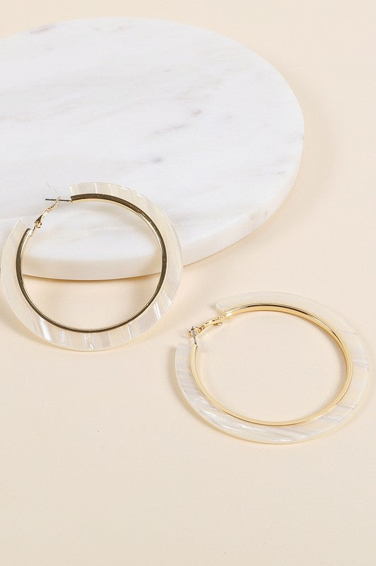 In Circles Acrylic Earrings