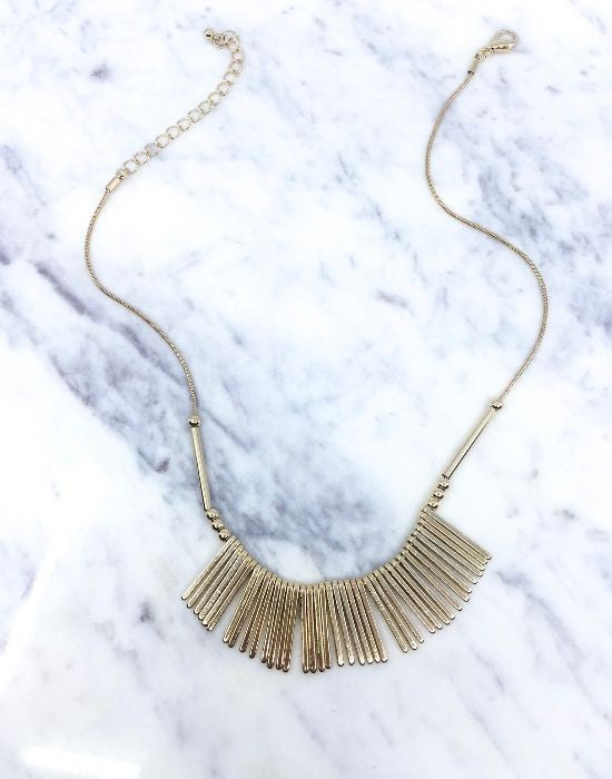 Multi Bar Necklace in Gold