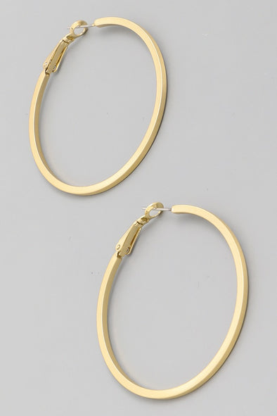 Thin Hoop Latch Earrings