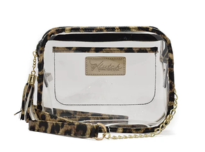 'K'lear Pouch with Tassel Stadium Klutch  - Leopard