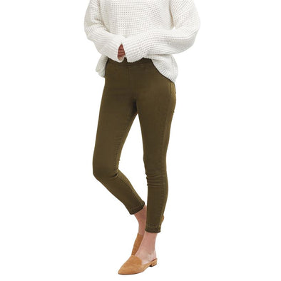 Sarah Denim Leggings - Olive
