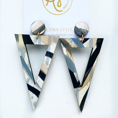 Maple Zebra Earring