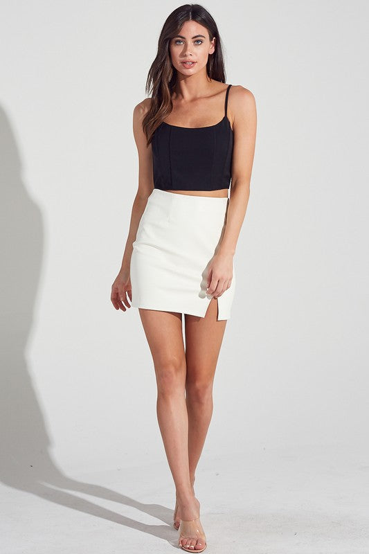 Night Out White Skirt