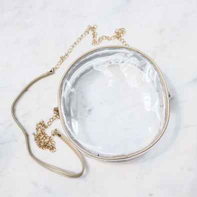 Campus Clear Crossbody - Gold