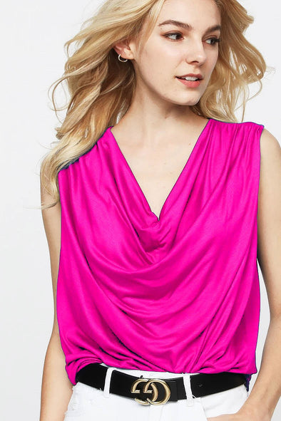 Sweetest Hour Fuchsia Top