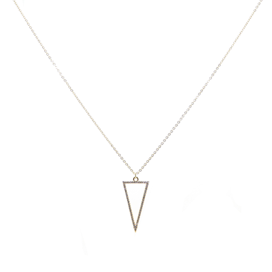 Hollow Man Triangle Necklace