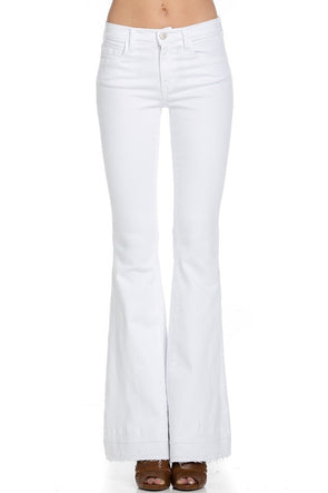 One Call Away White Flare Jeans