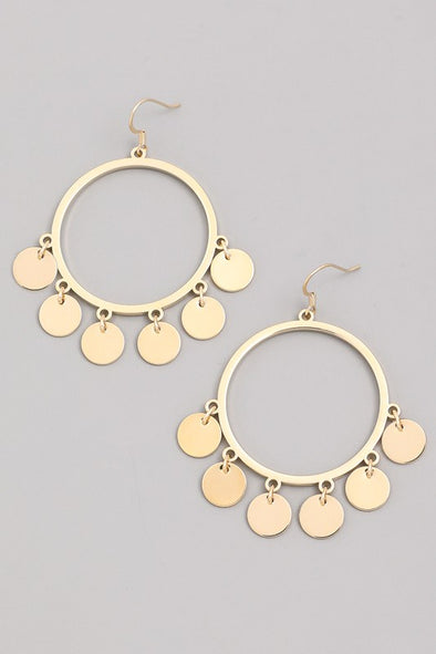 Miniature Coin Earrings in Gold