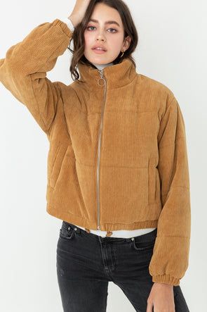 Stay Cozy Corduroy Jacket - Camel
