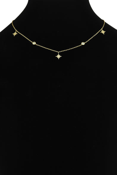 Star Dipped Dainty Necklace