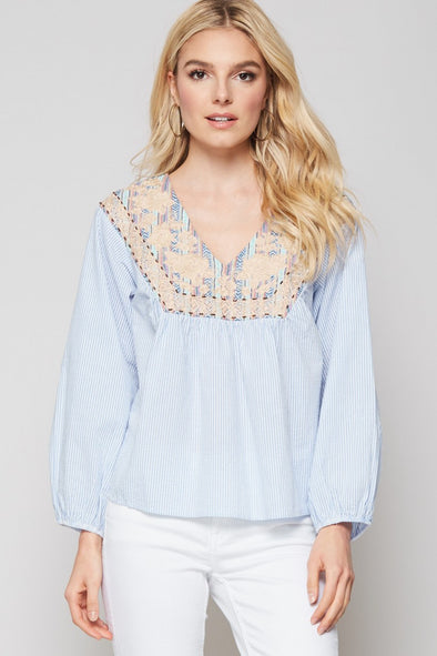 Turn Around Embroidered Top