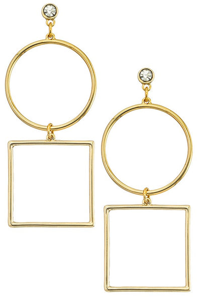 Tiered Deo Drop Earrings - Gold