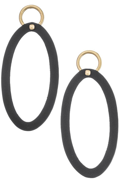 Worth It Hoop Earrings - Black