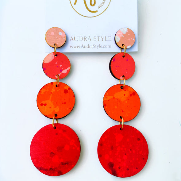 Phoebe Coral/Orange Earring