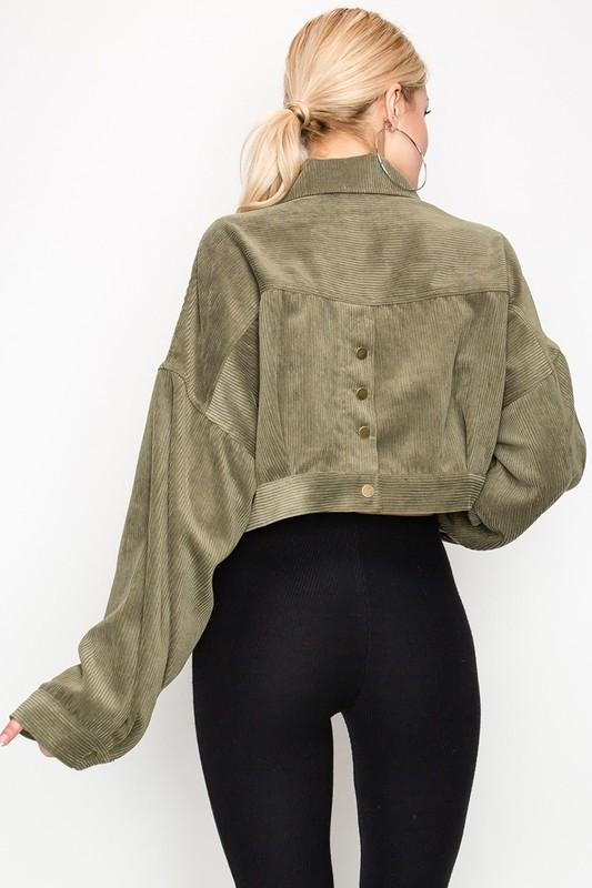 More Than Enough Crop Jacket - Olive