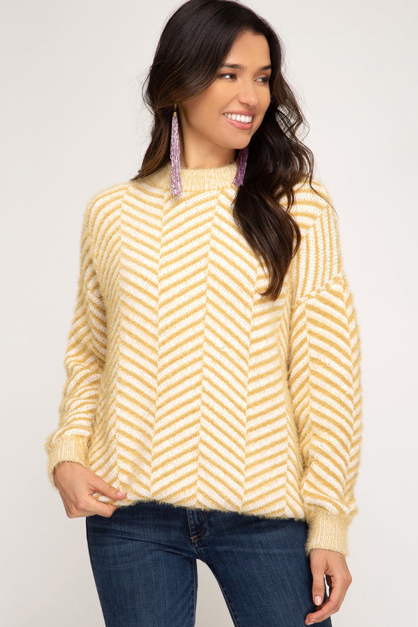 All This Time Chevron Sweater