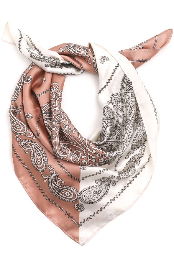 Two Toned Paisley Scarf