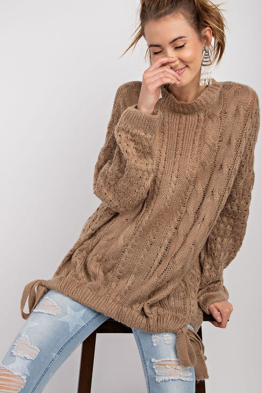 The Cable Knit Mocha Sweater