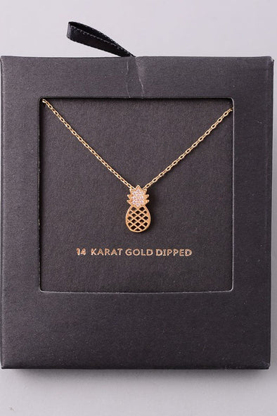 Pineapple Dreams Necklace - Gold