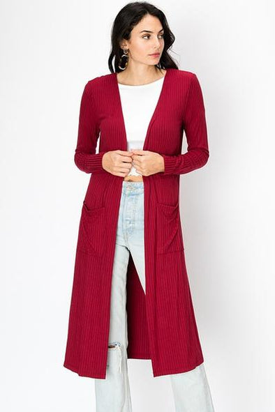 On The rise Cardigan - Burgundy