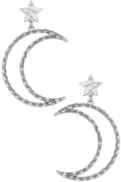 To The Moon & Back Earrings - Silver