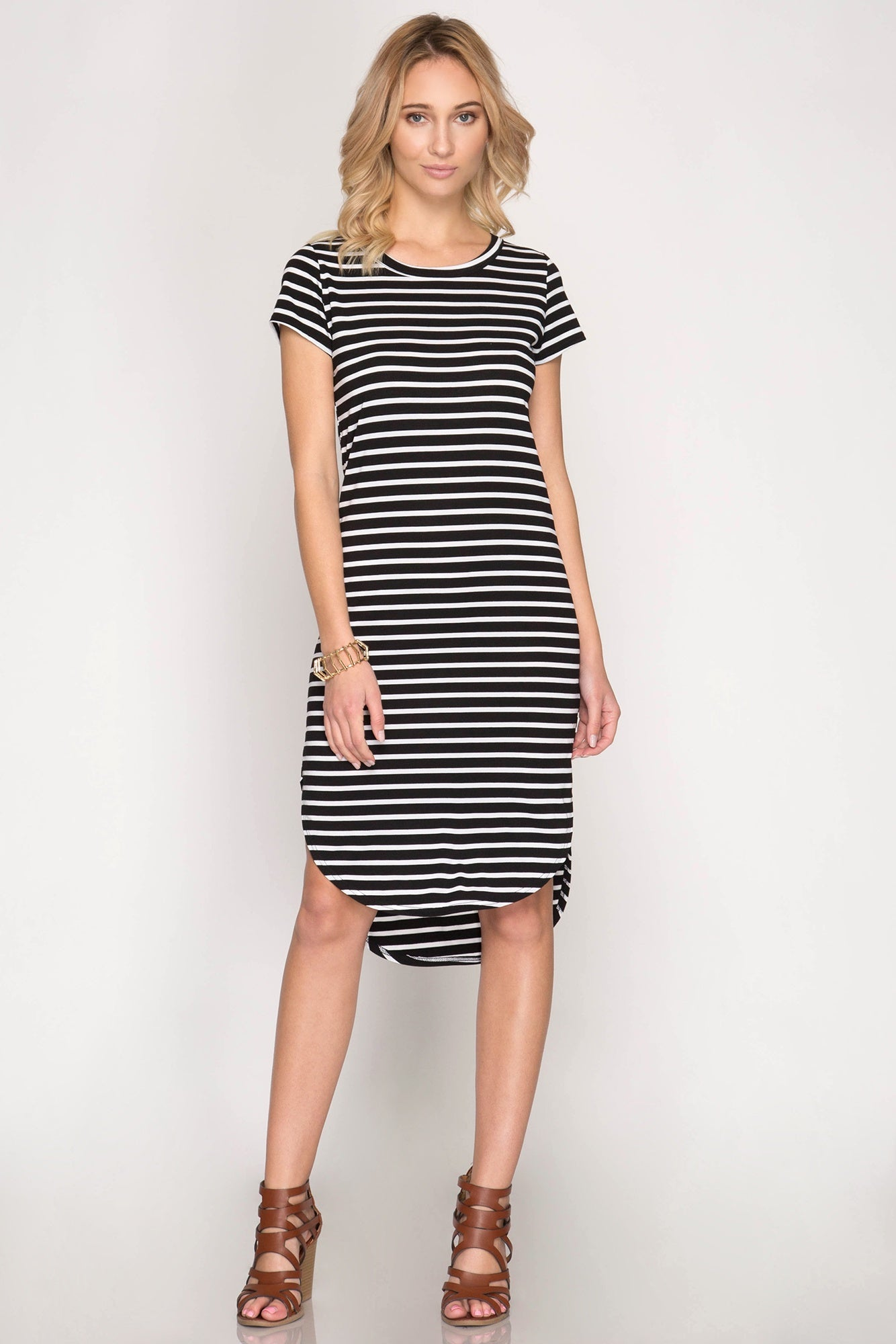 Follow the Line Midi Dress