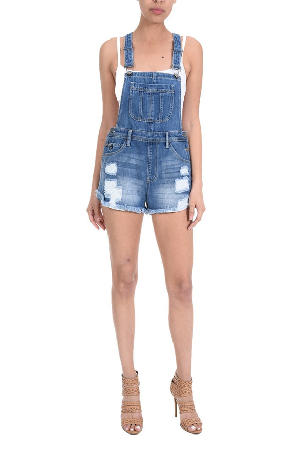 Overall Distressed Shorts