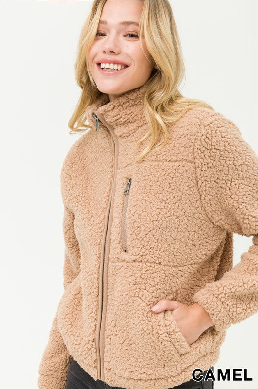 Winter Wonderland Fleece Jacket - Camel