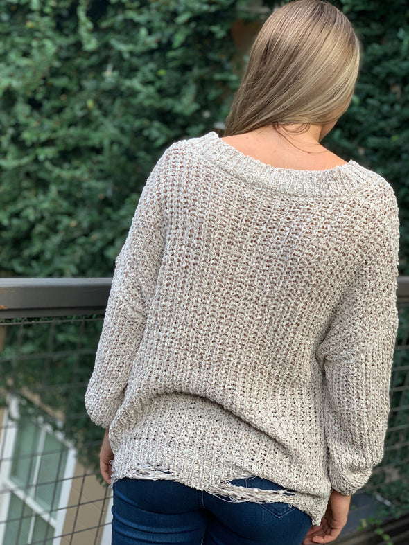 Native Daughters Distressed Sweater