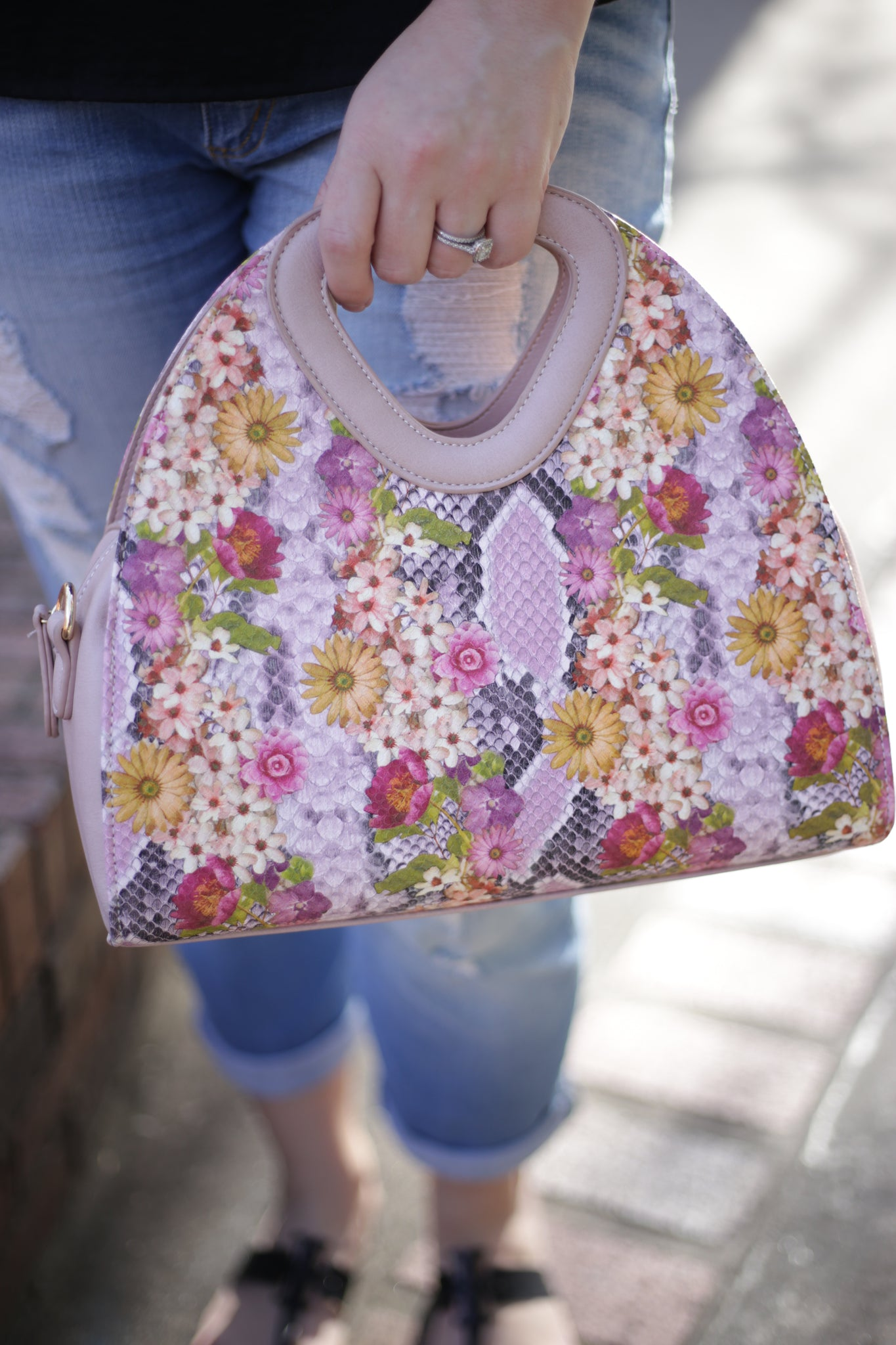 Flower Power Handbag - Lavender
