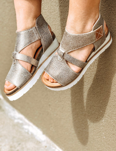 Greens Burg Wedge Sandal