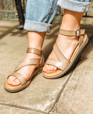 Osta Sandals in Taupe