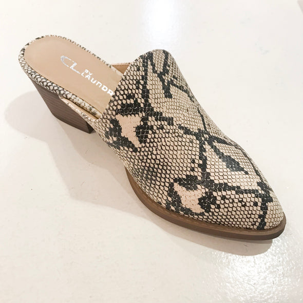 Catherin Snake Slide On