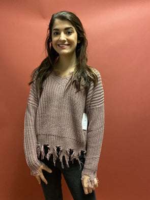 Winter Calls Sweater - Mauve