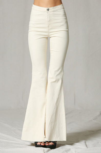 Step On Out White Flare Jeans