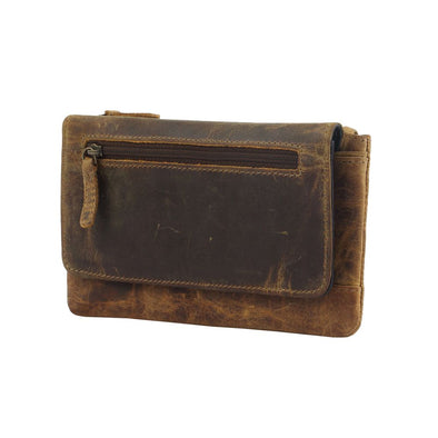 Oak Fire Leather and Hair On Wallet