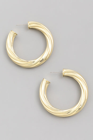 Twist C Hoop Earrings
