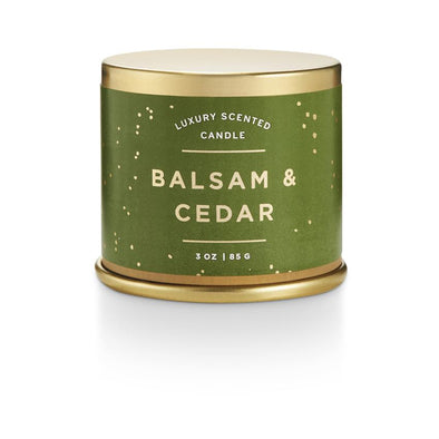 Noble Holiday Demi Tin - Balsam & Cedar
