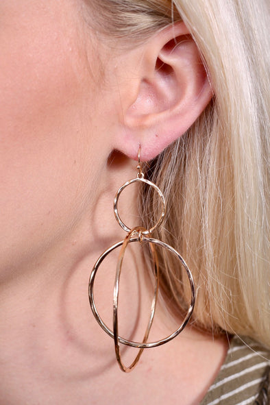 Matte Silver Thick Hoop Earring