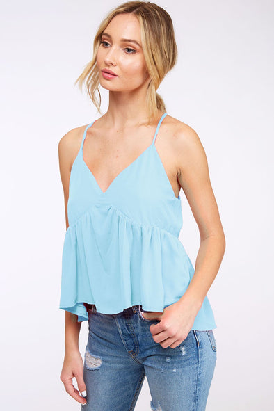 Neon Color Babydoll Cropped Cami