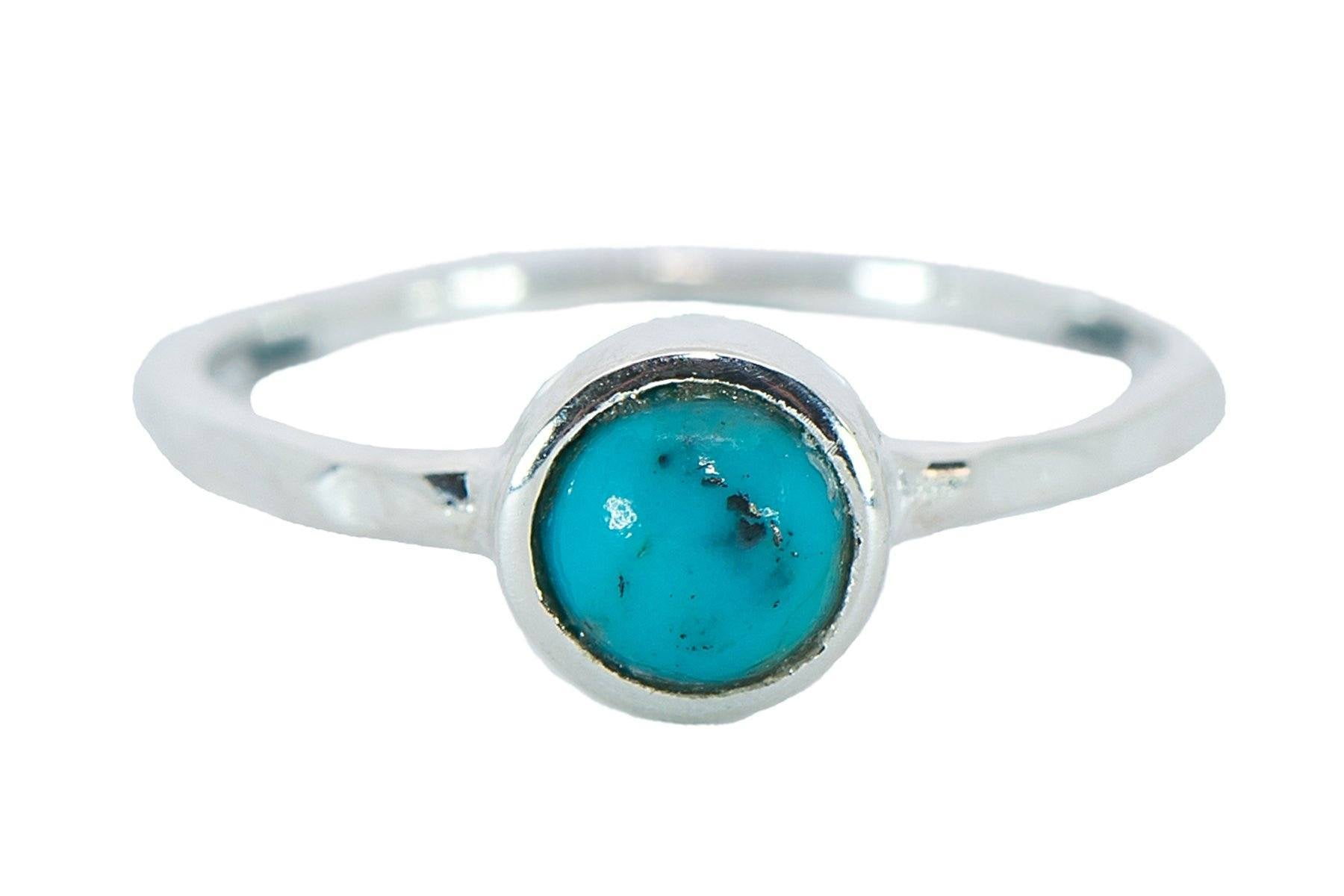 Boho Ring - Silver/Turquoise