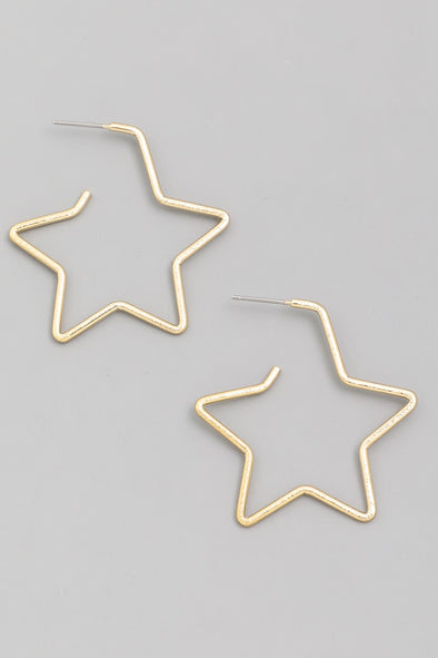 Star of The Show Hoop Earring - Multiple Colors